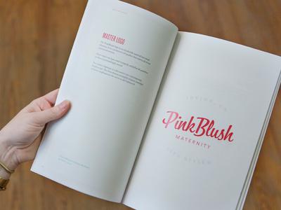 Brand Guidelines badge pink pregnant logo lettering focus lab maternity feminine script book style guide brand