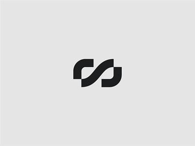 RS icon mark brand logo augmented reality vr ar symbol infinity monogram ambigram