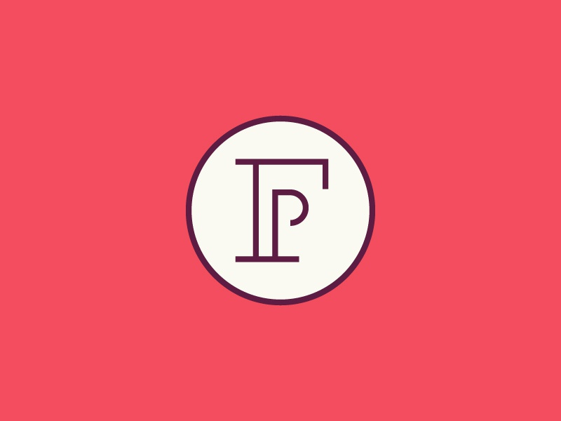 FP monogram monogram f p logo red mark circle brand