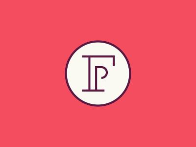FP monogram monogram f p logo red mark circle brand