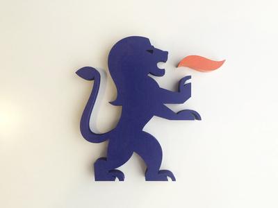 Max german bavaria lion crest fire blue cyan logo brand seattle laser wood