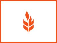 flame + wheat