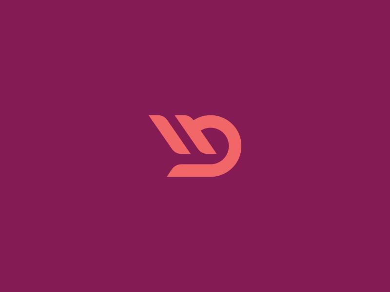 Mark identity technology car insurance purple brand monogram wings logo wheel tire