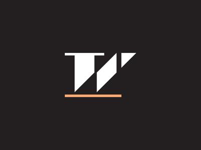 W monogram geometric simple identity brand logo mark fashion hair salon w