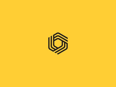 I/O stripes data yellow identity brand motion lines optical logo mark