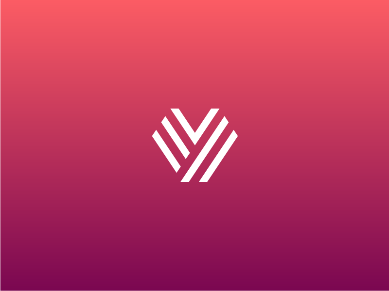 Y tho identity brand fingerprint gradient mark logo y heart monogram