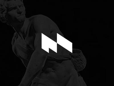 M news brand bernini david black logo mark intercom m