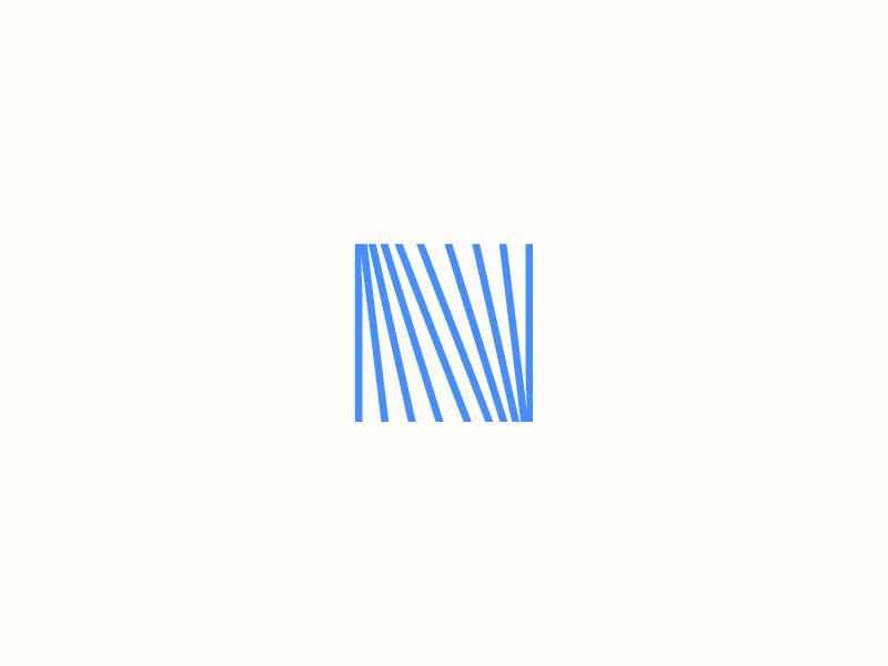 N monogram paper blue mark logo writing book n