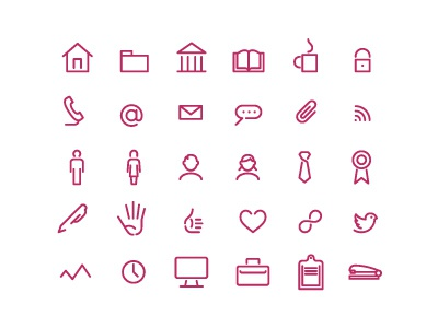 continu icons briefcase clipboard computer icons focus lab icon magenta not pink profile education stapler tweet share like book coffee rss tie reward