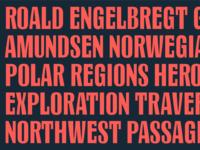 "Still unsure of the name, ""Passages"" norway roal amundsen type type design custom identity typography"