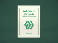 EH enamel pin hexagon monogram venture capital green icon design identity mark brand logo