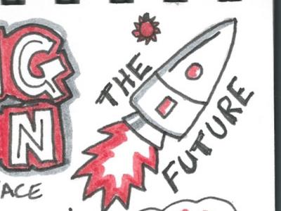 Hot Source Innovation in Norfolk Meetup talk creative digital meetup sketchnote doodle