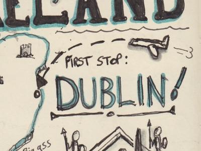 Ireland Travel Journal diary journal dublin ireland travel sketchnote doodle