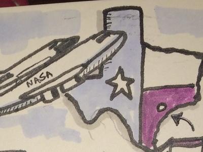 Travel Journal Experiment  - Houston  houston texas usa diary journal travel visual doodle sketchnote