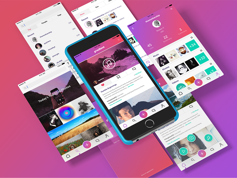 Gradient full dribbble