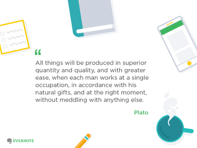 Productivity Quote Asset evernote productivity illustration desk quote social