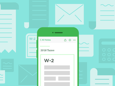 Tax Day w-2 evernote documents mobile taxes