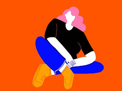 c👀l GiRl vibrant bold bodypositive girl woman procreate illustration