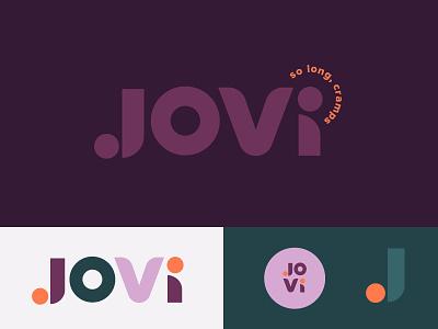 JOVI Brand lettering design identity vector branding logo