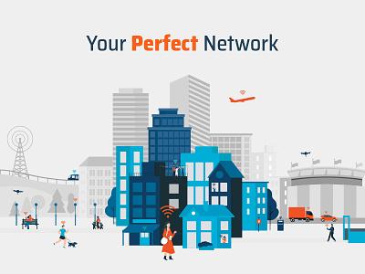 Smart City Illustration design vector illustration