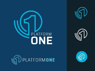 Platform ONE design identity icon illustration branding logo