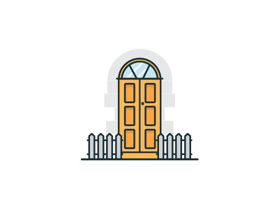 The Doors Of Dublin Series door dublin ireland illustration vector outline icon