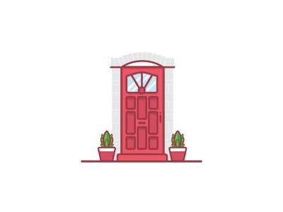The Doors Of Dublin Series dublin ireland vector outline icon illustration