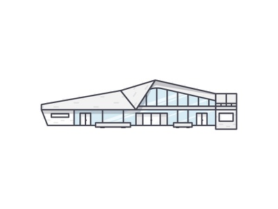Architect Of Library outline illustration icon norway building architect library