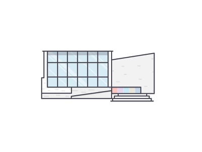 Architect Of Library outline finland library illustration icon building architect