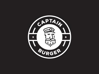 Captain Burger - Berlin fol kreuzberg monogram germany berlin man sign logo hamburger burger captain