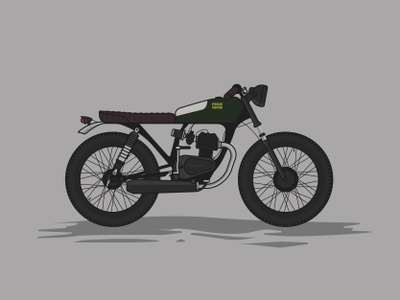 Honda CG125 Titan Cafe Racer caferacer motorcycle illustration honda