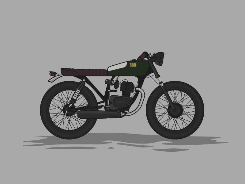 Honda CG125 Titan Cafe Racer caferacer motorcycle illustration honda