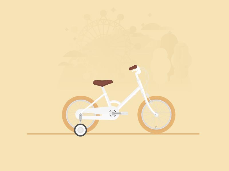 Kids' Bike illustration tokyobike vector flat bike kids bicycle