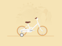 Kids' Bike illustration tokyobike vector flat bike kids bicycle