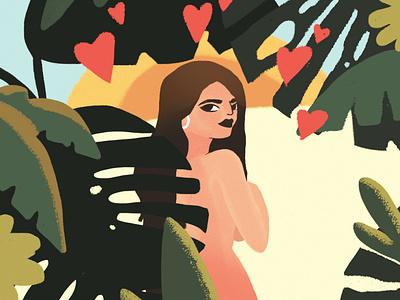 Let me adore you! colors illustration