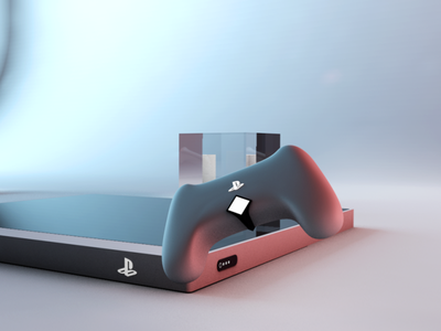 Playstation Concept product videogames colors render cinema4d playstation
