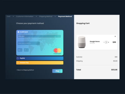 Credit Card Checkout - Daily UI Challenge #002