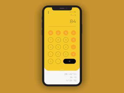 Minimalist iPhone Calculator - Daily UI Challenge #004