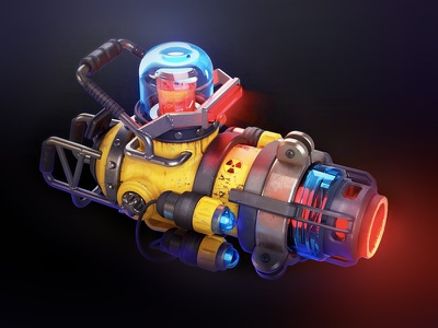 Laser gun print concept gun 3d