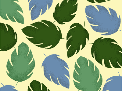 Love and Leaves pattern design pattern minimal design illustrations flower illustration flower flat