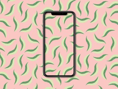 Leafy Pattern iphone flowers pattern minimal flat design flat branding vector design illustration art illustration