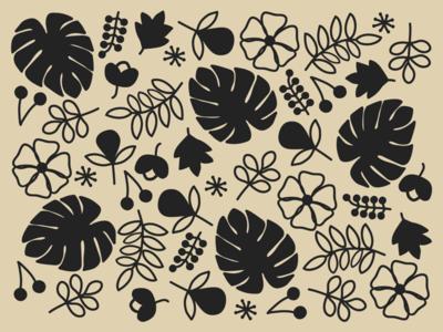 Pattern Play branding flowers illustration design illustrations flat minimal pattern design patterns