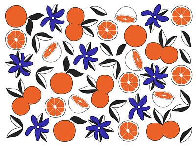 Summer Time design fruit flowers pattern summer illustrations flat minimal patterndesign