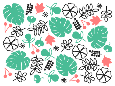 Summer prints! minimal flat illustrations pattern design patterns