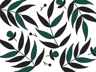 Leaf Pattern vector branding minimal flat art illustrations pattern designs pattern
