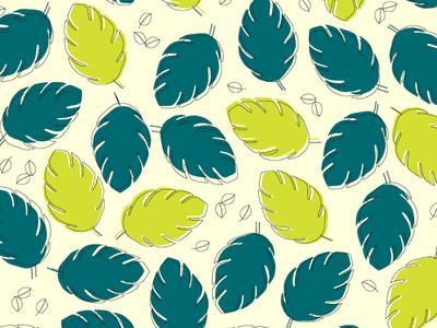 Pattern pattern designer plants leaves flowers minimal flat illustrations pattern designs pattern