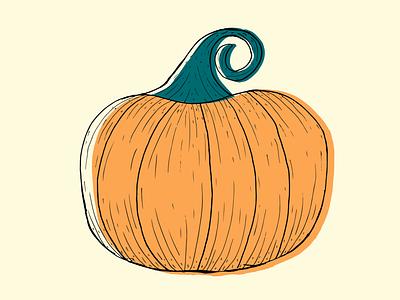 Pumpkin autumn halloween pumpkin minimal flat illustration