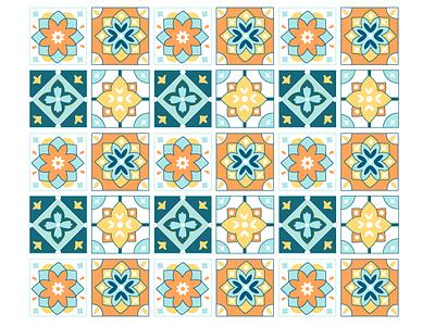 Tile Pattern vector illustrations illustrator minimal tiles pattern design design pattern flat illustration