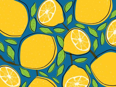 Lemon pattern illustrator adobe illustrations flat pattern pattern design minimal lemon fruit