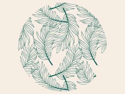 Leafy Pattern adobe fresco ipad adobe house plants leaves leaf floral botanical vector pattern design pattern illustration flat